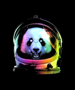 Panda Astronaut T Shirt