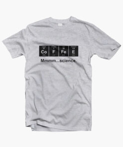 Periodic Table of Coffee T Shirt sport grey