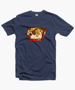 Puglie Pizza T Shirt navy blue