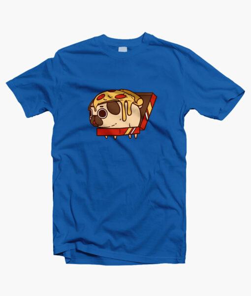 Puglie Pizza T Shirt royal blue