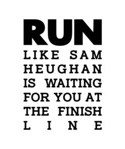 RUN Sam Heughan T Shirt