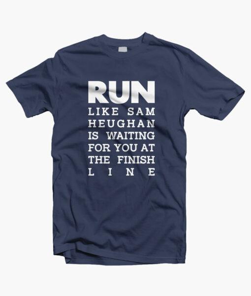 RUN Sam Heughan T Shirt navy blue