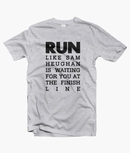 RUN Sam Heughan T Shirt sport grey