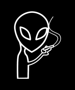 Smoking Alien T Shirt