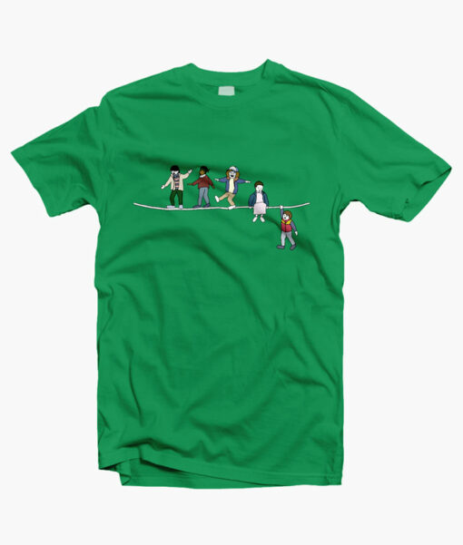 Stranger Things T Shirt The Acrobats and the Fleas irish green