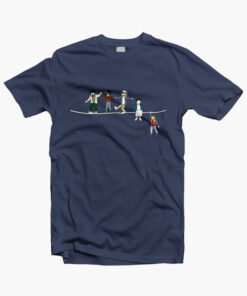 Stranger Things T Shirt The Acrobats and the Fleas navy blue