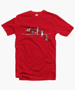 Stranger Things T Shirt The Acrobats and the Fleas red