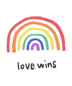 Love Wins Rainbow T Shirt