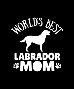 Dog World's Best Labrador Mom T Shirt