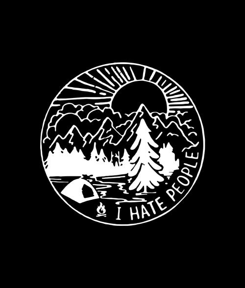 I Hate People Adventure T Shirt