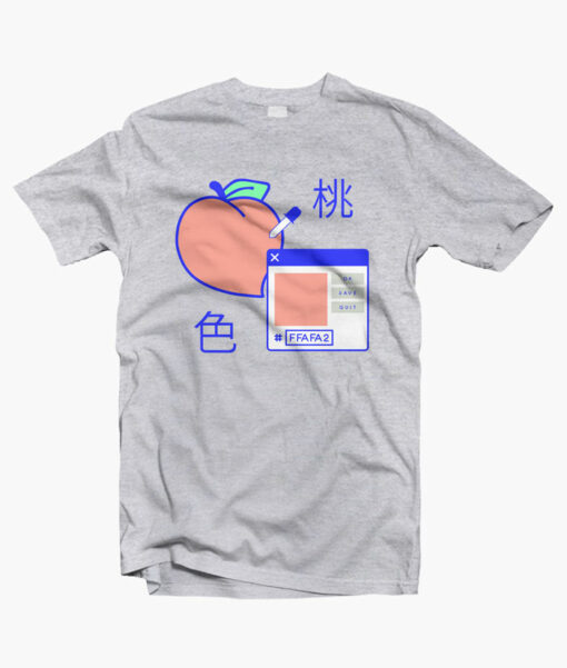 Peach Digital T Shirt