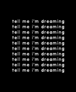 Tell Me I'm Dreaming T Shirt