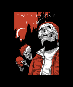 Alien And Skull Twenty One Pilots T Shirt