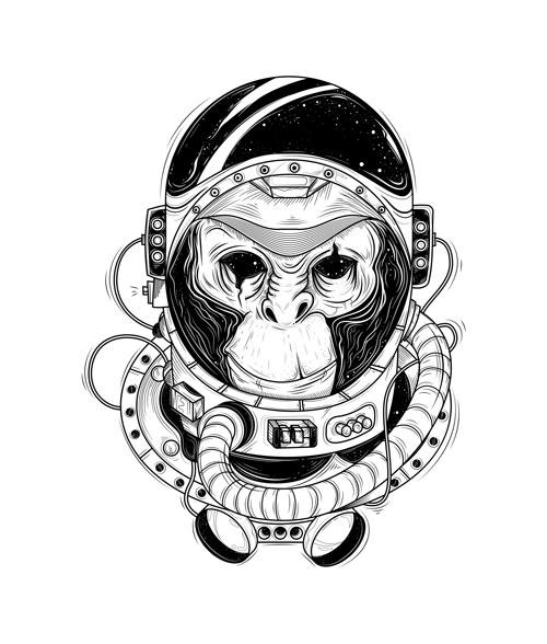 Monkey Astronaut T Shirt
