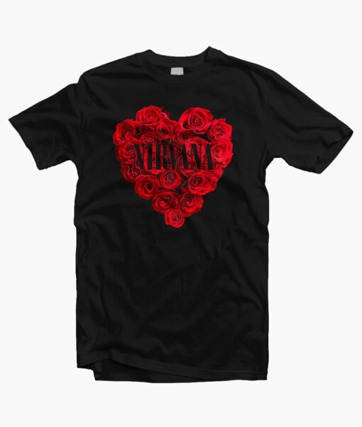 Nirvana Rose Band T Shirt