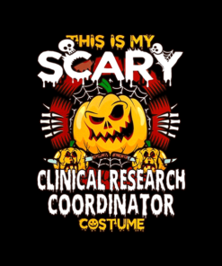 Clinical Research Coordinator Scary Halloween T Shirt