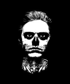 Evan Peters Skull T Shirt