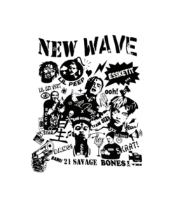 NEW WAVE Rapper T Shirt Post Malone lil peep 21 savage xxxtentacion
