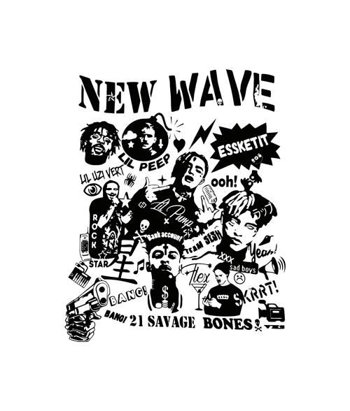 NEW WAVE Rapper T Shirt Post Malone lil peep 21 savage xxxtentacion