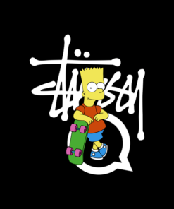Stussy Bart Simpson T Shirt