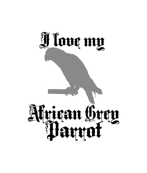 African Grey Parrot T Shirt For Men Women