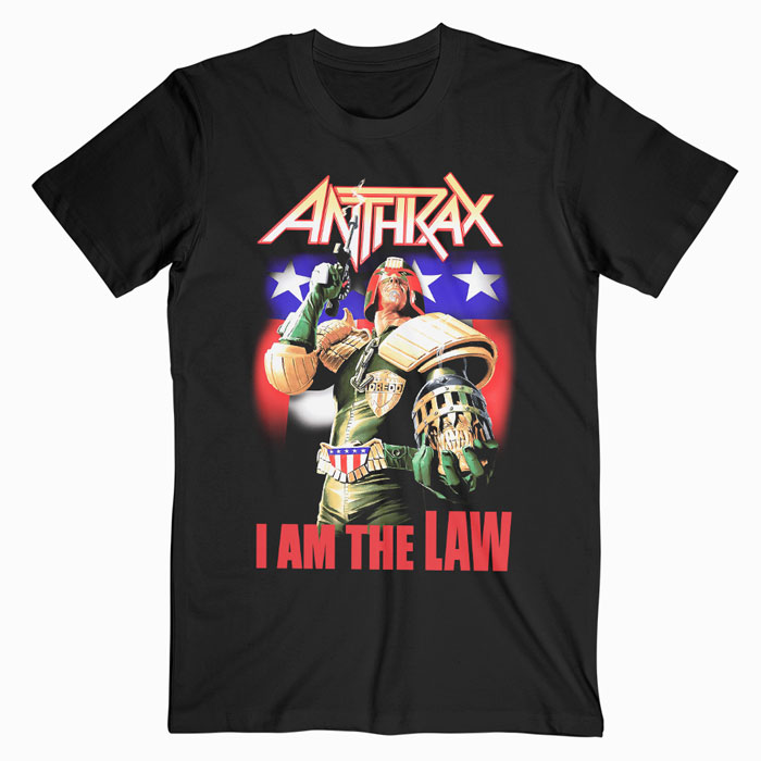Anthrax I Am The Law Band T Shirt For Men Women S M L Xl