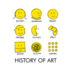 History of Art Smiley Face T Shirts