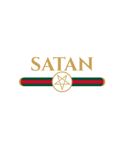 Satan Gucci Parody T Shirt