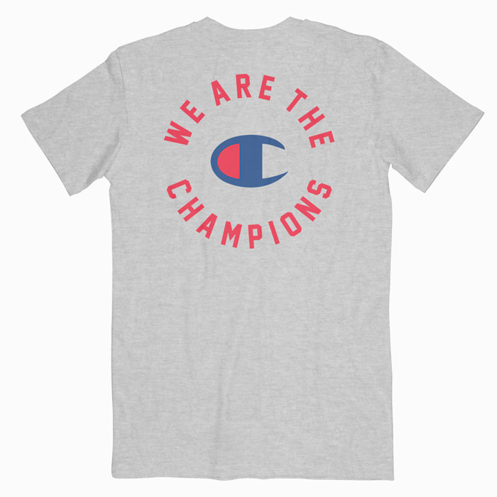 b2cab58f Queen X Champion We Are The Champions T Shirt - Bonestudio