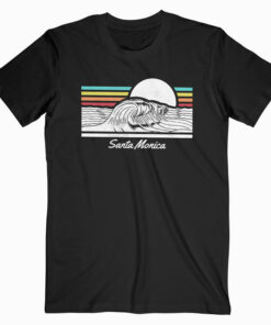 Santa Monica Wave Summer Beach T Shirt