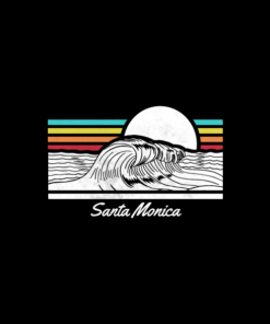 Santa Monica Wave Summer Beach T Shirt