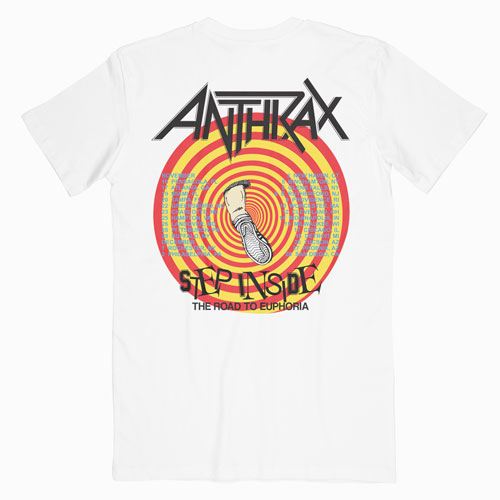 Anthrax 1988 Road To Euphoria Tour Band T Shirt