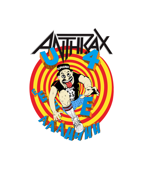 Anthrax 1988 Road To Euphoria Tour Band T Shirt