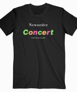 New Order Concert North American Tour 1989 Band T ShirtNew Order Concert North American Tour 1989 Band T Shirt