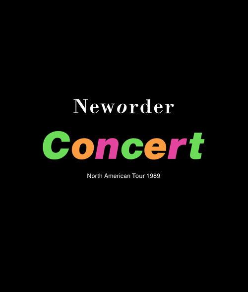 New Order Concert North American Tour 1989 Band T Shirt