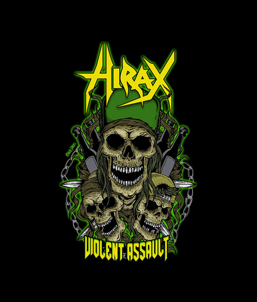 Hirax Violent Assault Band T Shirt