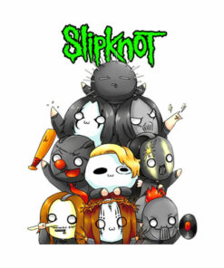 Slipknot Chibi Band T Shirt