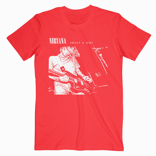 Nirvana About A Girl Band T Shirt