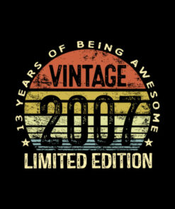 13 Year Old Gifts Vintage 2007 Limited Edition 13th Birthday T-Shirt