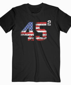 45 Squared Trump 2020 Second Term USA Vintage T-Shirt