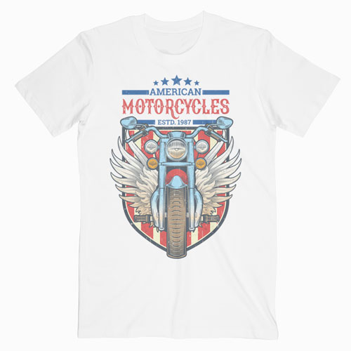 American Motorcycles 1987 T Shirt