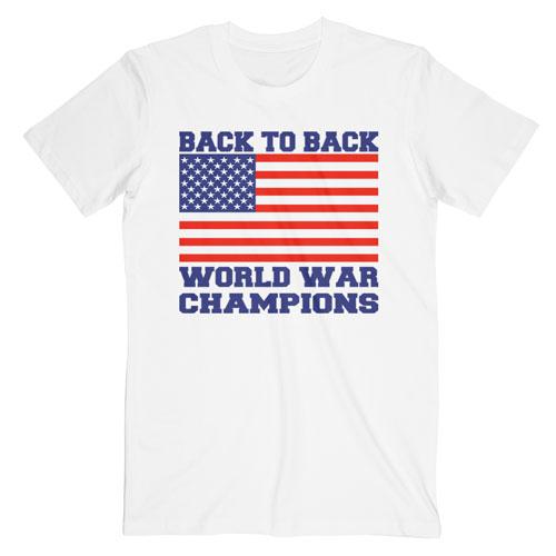 Back To Back Worls War Champions T Shirt