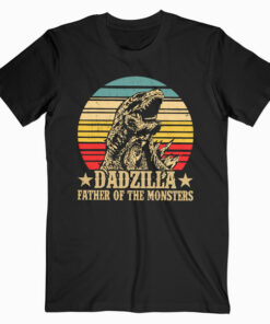 Dadzilla Father Of The Monsters Retro Vintage Sunset T-Shirt