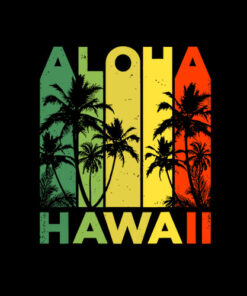 Aloha Hawaii Hawaiian Island Vintage 1980s Throwback T shirt