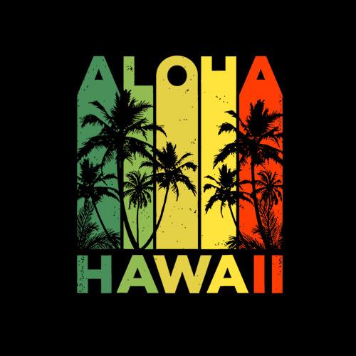 Aloha Hawaii Hawaiian Island Vintage 1980s Throwback T shirt