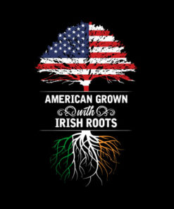 American Grown Irish Roots Ireland Flag T-Shirt