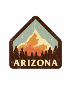 Arizona Retro Vintage Mountains Nature Hiking T Shirt
