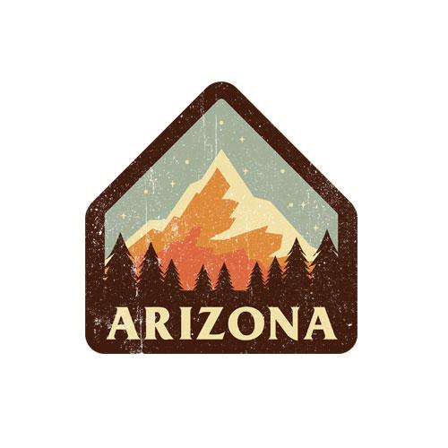 Arizona Retro Vintage Mountains Nature Hiking T Shirt