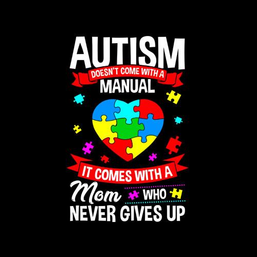 Autism Mom Shirt Women Autism Awareness Shirts Mom Cute Gift T-Shirt