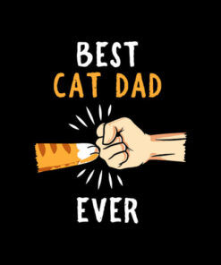 Best Cat Dad Ever Paw Fist Bump T-shirt